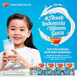 Anak Indonesia Minum Susu vidoran