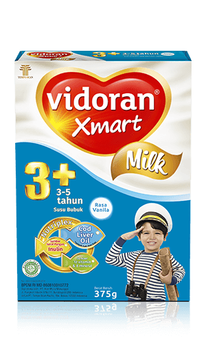 Susu vidoran Xmart 3+ Rasa Vanilla