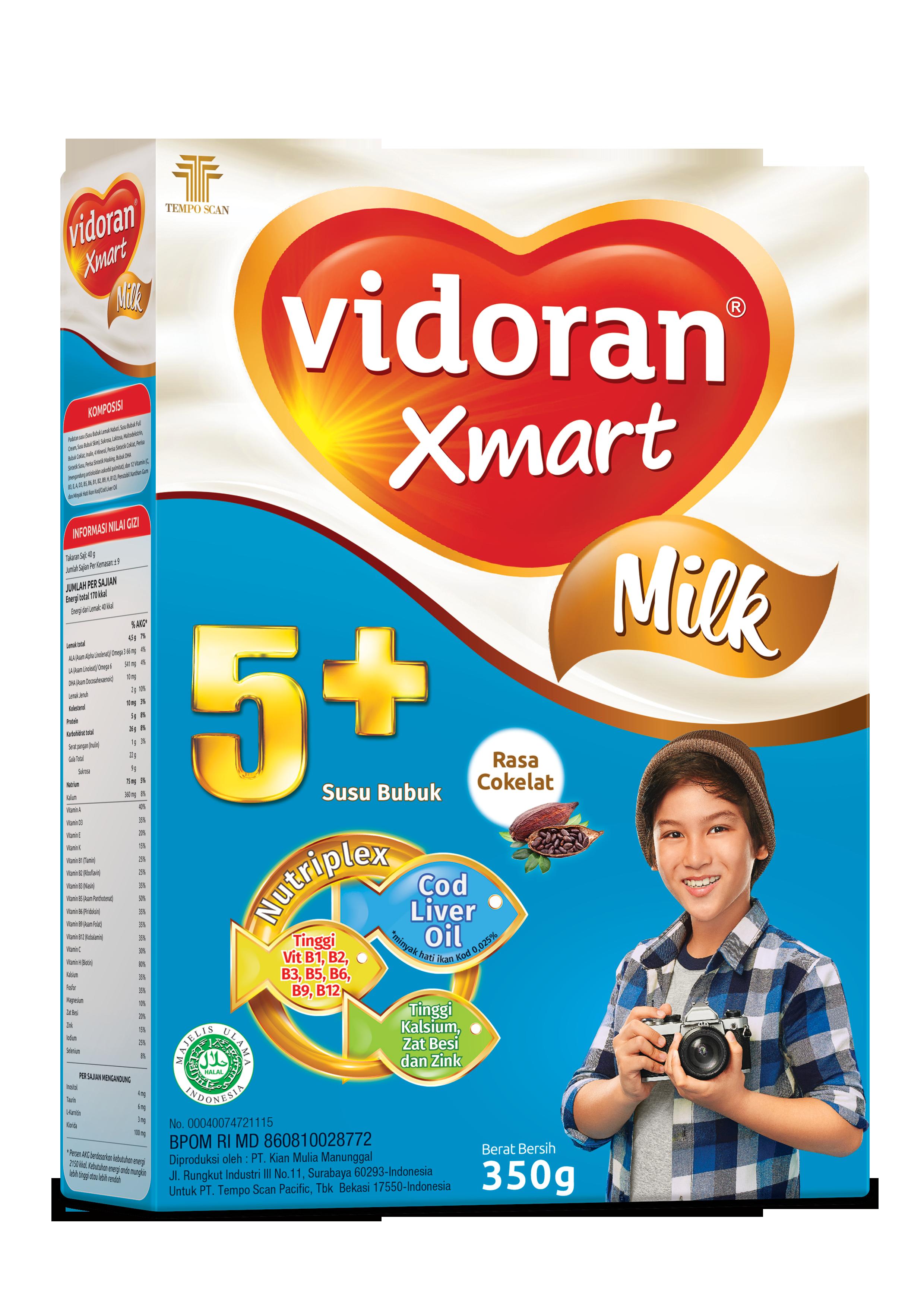 Susu vidoran Xmart 5+ Rasa Coklat